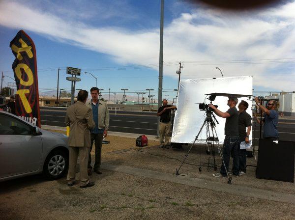 on location film production las vegas